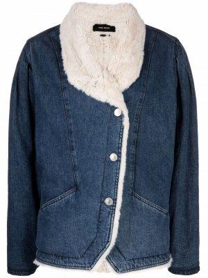 Dipauline faux-shearling denim jacket Isabel Marant. Цвет: синий