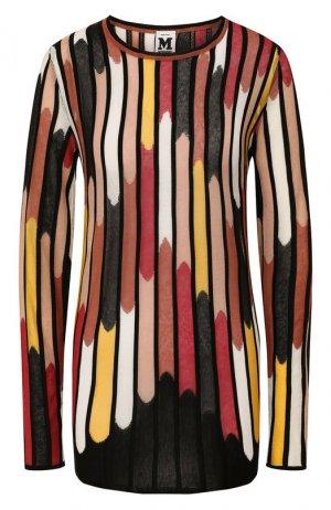 Пуловер из смеси вискозы и хлопка M Missoni. Цвет: разноцветный