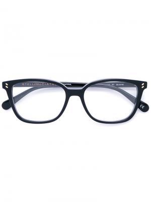 Очки в квадратной оправе Stella Mccartney Eyewear. Цвет: чёрный