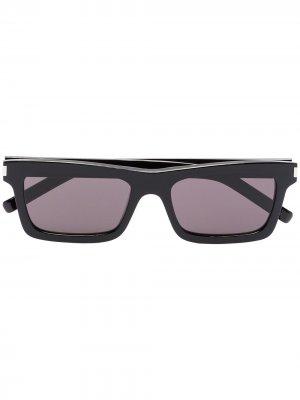 Солнцезащитные очки Betty в квадратной оправе Saint Laurent Eyewear. Цвет: черный