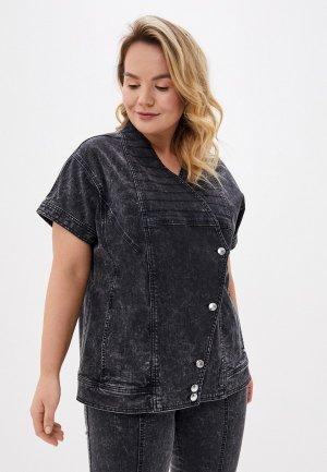 Куртка джинсовая Ashley Graham x Marina Rinaldi GALATEO. Цвет: черный
