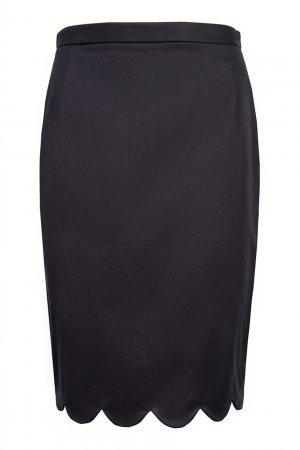Черная юбка с отделкой Aquilano.Rimondi. Цвет: черный
