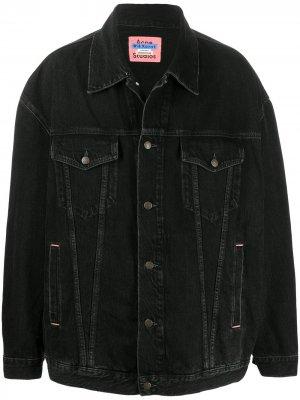 Джинсовая куртка оверсайз Acne Studios. Цвет: черный