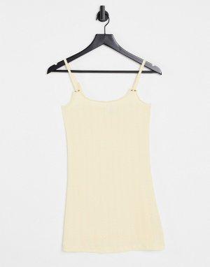 Ажурная ночная сорочка лимонного цвета -Желтый ASOS DESIGN