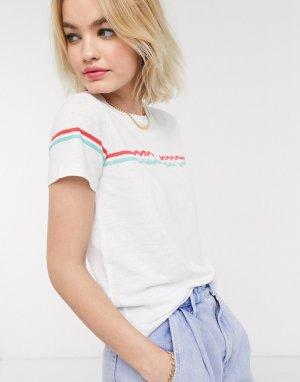 Белая футболка в стиле 70-х Pepe-Белый Pepe Jeans