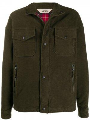 Куртка в стиле милитари Aspesi. Цвет: зеленый