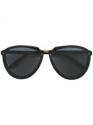 Солнцезащитные очки в оправе авиатор Marni. Цвет: чёрный