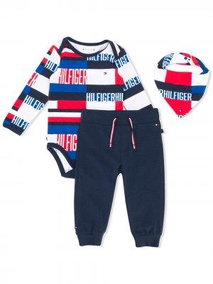Комплект из комбинезона, брюк и нагрудника Tommy Hilfiger Junior. Цвет: синий