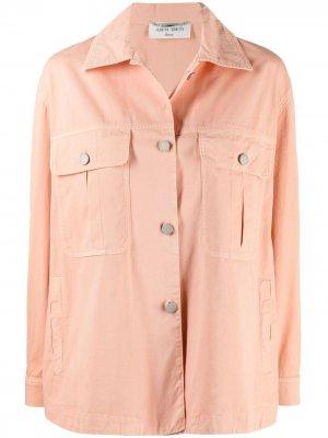 Куртка-рубашка на пуговицах Alberta Ferretti. Цвет: розовый