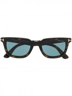 Солнцезащитные очки Dario TOM FORD Eyewear. Цвет: коричневый