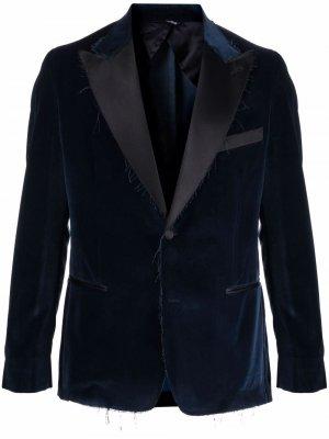 Бархатный вечерний пиджак Reveres 1949. Цвет: синий