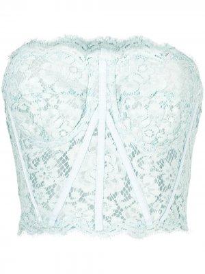 Кружевной лиф без бретелей Dolce & Gabbana. Цвет: синий