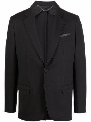 Однобортный пиджак с тисненым логотипом Billionaire. Цвет: черный