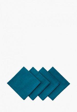 Комплект салфеток сервировочных Семейные ценности Маренго. Цвет: бирюзовый