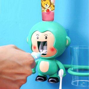 1 набор Детская соковыжималка для зубной пасты в форме обезьяны случайного цвета SHEIN. Цвет: многоцветный