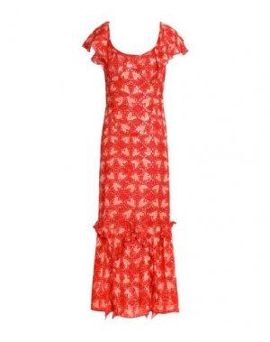 Платье длиной 3/4 ANNA SUI. Цвет: красный