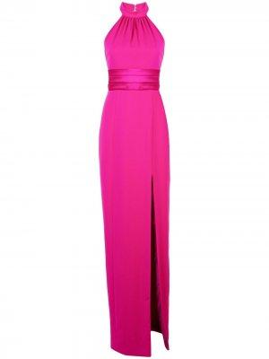 Вечернее платье Simone с вырезом халтер Jay Godfrey. Цвет: фиолетовый