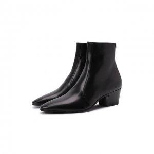 Кожаные сапоги Vassili Saint Laurent. Цвет: чёрный