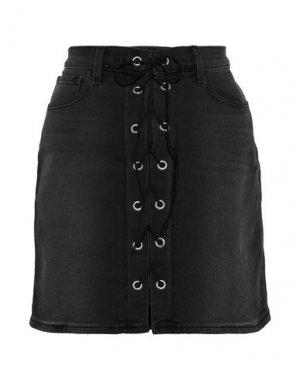 Джинсовая юбка L'AGENCE. Цвет: черный