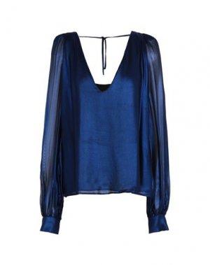 Блузка AU JOUR LE. Цвет: темно-синий