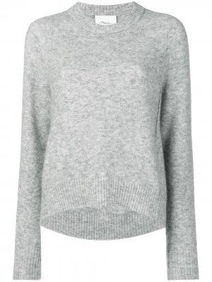 Пуловер с асимметричным подолом 3.1 Phillip Lim. Цвет: серый