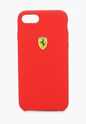 Чехол для iPhone Ferrari 8 / SE 2020, On-track SF Silicone case TPU Red. Цвет: красный