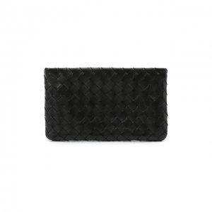 Кожаный футляр для документов Bottega Veneta. Цвет: чёрный