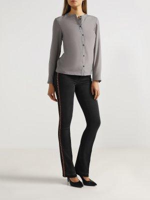 Женские расклешенные джинсы Liu Jo. Цвет: chernyy