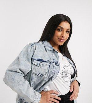Длинная джинсовая куртка -Синий Brave Soul Plus