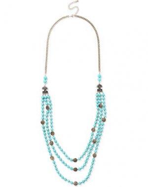 Ожерелье KENNETH JAY LANE. Цвет: лазурный