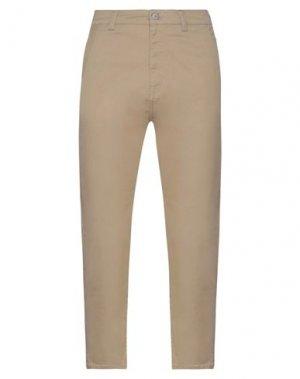 Повседневные брюки EDWIN. Цвет: песочный