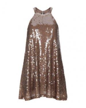 Короткое платье ANIYE BY. Цвет: верблюжий