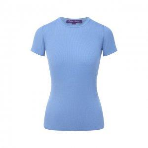 Шелковая футболка Ralph Lauren. Цвет: синий