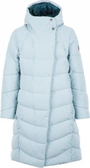 Пальто пуховое для девочек , размер 140 Merrell. Цвет: голубой