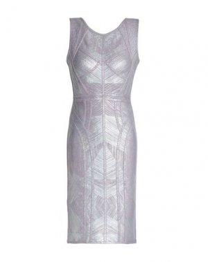 Платье до колена HERVÉ LÉGER. Цвет: сиреневый