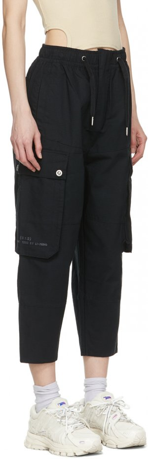 Black Loose Cargo Pants Li-Ning. Цвет: black