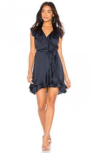 Платье Bardot. Цвет: синий