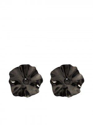 Oversized flower earrings Toga Pulla. Цвет: черный