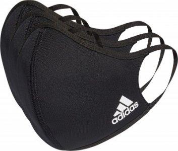 Маска защитная adidas, 3 штуки Adidas. Цвет: черный