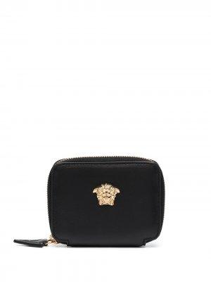 Кошелек с декором Medusa Versace. Цвет: черный