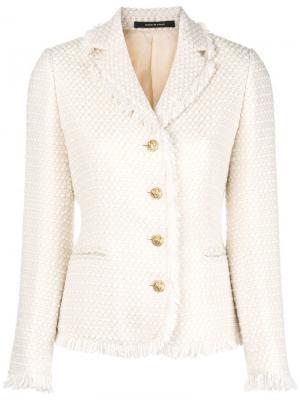 Твидовый пиджак Tagliatore. Цвет: нейтральные цвета