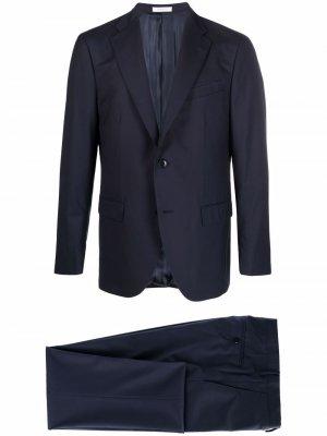 Костюм с однобортным пиджаком Boglioli. Цвет: синий