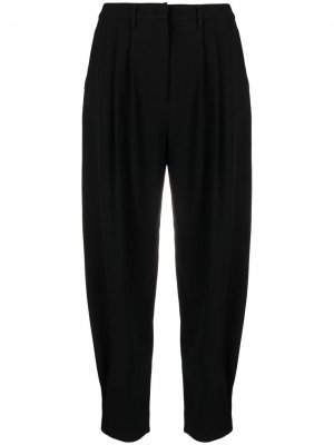 Tapered virgin wool-blend trousers Fabiana Filippi. Цвет: черный