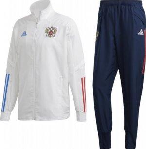 Парадный спортивный костюм сборной России мужской, adidas, размер 52-54 Adidas. Цвет: белый
