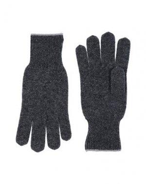 Перчатки BRUNELLO CUCINELLI. Цвет: свинцово-серый