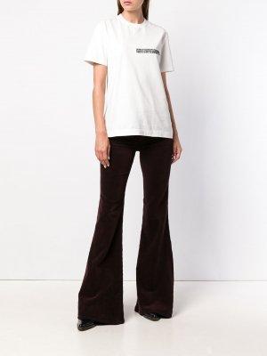 Вельветовые расклешенные брюки Citizens Of Humanity. Цвет: красный
