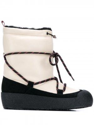 Зимние ботинки Candye Bally. Цвет: белый