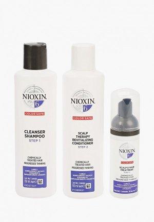 Набор для ухода за волосами Nioxin система 6: шампунь (150 мл), кондиционер маска (40 мл). Цвет: прозрачный
