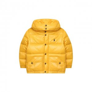 Пуховая парка Polo Ralph Lauren. Цвет: жёлтый