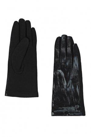Перчатки со вставками под рептилию Marco Bonne`. Цвет: черный